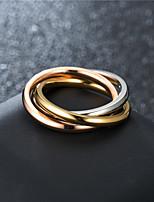 cheap -classic style three-color three-ring interlocking ring