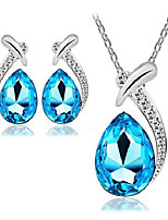 cheap -short clavicle female austrian crystal necklace fish mermaid set + earrings  jewelry