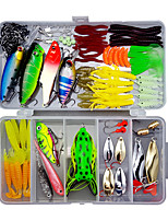 cheap -109 pcs Lure kit Fishing Lures Hard Bait Soft Bait Spoons Minnow Pencil Popper Vibration / VIB lifelike 3D Eyes Bass Trout Pike Sea Fishing Lure Fishing Freshwater and Saltwater