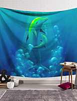 cheap -Wall Tapestry Art Decor Blanket Curtain Hanging Home Bedroom Living Room Decoration Polyester Dolphin