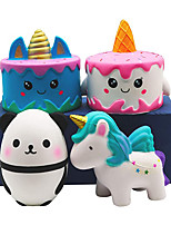 cheap -Squishies Slow Rising Toy Set Jumbo Unicorn Cake Horse Panda Egg Soft Cute Hop Props Stress Relieve Sensory Toy for Boys and Girls(4 Packs)
