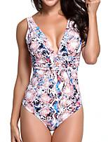 cheap -Women's One Piece Swimsuit Nylon Swimwear Bodysuit Quick Dry Breathable Sleeveless Swimming Surfing Water Sports Summer