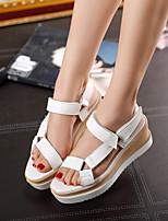 cheap -Women's Sandals Platform Round Toe PU Synthetics White Black