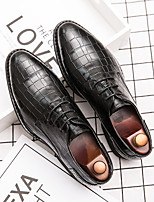 cheap -Men's Oxfords Leather Shoes Printed Oxfords Business Vintage Classic Daily Party & Evening Nappa Leather Cowhide Non-slipping Wear Proof Booties / Ankle Boots Black Brown Spring Summer