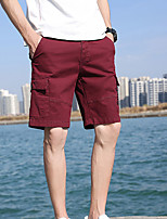"""cheap -Men's Hiking Shorts Hiking Cargo Shorts Summer Outdoor 12"""" Ripstop Quick Dry Multi Pockets Breathable Cotton Knee Length Bottoms Red Army Green Khaki Dark Blue Work Hunting Fishing 28 29 30 31 32"""