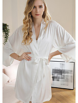 cheap -Women's Deep V Ultra Sexy Pajamas Solid Colored