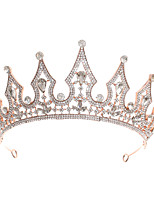 cheap -Women's Tiaras Hair Jewelry For Wedding Engagement Party Birthday Party Birthday Wedding Crystal Alloy Rose Gold 1pc