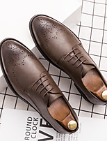 cheap -Men's Oxfords Leather Shoes Printed Oxfords Business Vintage Classic Daily Party & Evening Nappa Leather Cowhide Booties / Ankle Boots Black Brown Spring Summer