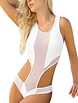 cheap -maple mesh monokini (white, small)