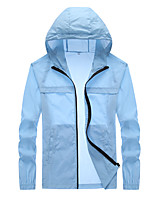 cheap -Men's UPF 50+ Clothing UV Sun Protection Lightweight Jacket Zip Up Hoodie Jacket Windbreaker Cooling Sun Shirt with Pockets Quick Dry Packable Coat Top Hiking Fishing Outdoor Performance