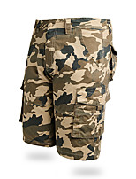"""cheap -Men's Hiking Shorts Hiking Cargo Shorts Military Camo Summer Outdoor 10"""" Ripstop Multi Pockets Breathable Sweat wicking Cotton Knee Length Bottoms Camouflage Army Green Camouflage khaki Army Green"""