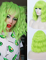 cheap -Synthetic Wig Curly Neat Bang Wig Short Green Synthetic Hair Women's Cosplay Party Fashion Green