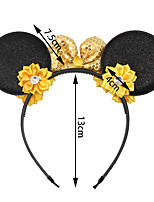 cheap -new holiday jewelry european and american high-end bow headband mickey mouse big ears headband children's party headwear