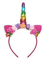 cheap -new unicorn headband european and american children foam flower head buckle christmas ball party headdress baby gift