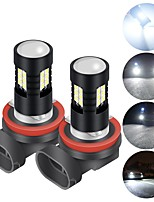 cheap -2PCS H4 fog light bulb H7 H8 H11 HB3 9005 Bulbs 3030 21SMD Fog Light Bulbs Daytime Running Lamp Headlights Light Bulbs 12V