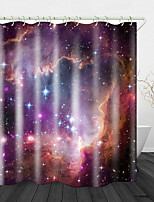 cheap -Bright Starry Sky Print Waterproof Fabric Shower Curtain for Bathroom Home Decor Covered Bathtub Curtains Liner Includes with Hooks