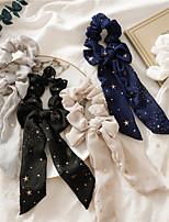 cheap -cross-border star chiffon bowknot ponytail streamer large intestine ring women's european and american tie hair three-state hair ring jewelry