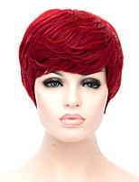 cheap -Synthetic Wig Curly Short Bob Side Part Wig Short Red Synthetic Hair Women's Cosplay Party Fashion Red