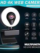 cheap -Web Camera With Microphone Auto Focus 3 Grades Ring Light Beautify Lighting Video Webcam 1080P For Live Broadcast Web Cam 4K Version