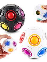 cheap -Rainbow Puzzle Ball Cube Magic Rainbow Ball Puzzle Bundle Stress Fidget Ball Brain Teasers Games Fidget Toys for Kids