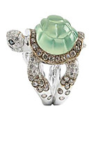 cheap -nxyvb turtle ring green jewelry turtle rings engraved with black and brown crystal rings (7)
