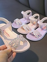 cheap -Girls' Sandals Comfort Slingback Roman Shoes PU Big Kids(7years +) Daily Party & Evening Walking Shoes Buckle Sequin Purple Pink Spring Summer