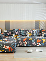 cheap -Floral Print Dustproof All-powerful Slipcovers Stretch L Shape Sofa Cover Super Soft Fabric Couch Cover Sofa Furniture Protector With One Free Boster Case
