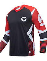 cheap -CAWANFLY Men's Long Sleeve Downhill Jersey with Pants Dirt Bike Jersey Winter Black / Red Novelty Funny Bike Tee Tshirt Jersey Top Mountain Bike MTB Road Bike Cycling Breathable Sports Clothing