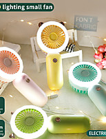 cheap -Mini Fan Portable Fan Handheld Electric USB rechargeable fan with light Appliances Desktop Air Cooler Outdoor Travel hand fan