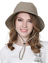 cheap -Women's Fisherman Hat Hiking Cap 1 PCS Outdoor Portable Sunscreen Breathable Soft Hat Solid Color Polyester Red Army Green Grey for Fishing Climbing Beach