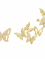 cheap -cz gold butterfly crawler cuffs studs earrings for women girls sterling silver post pin cubic zirconia small spiral hoop climber wrap asymmetrical earring fashion dainty jewelry birthday gifts