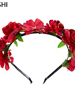 cheap -european and american cross-border fashion simulation color rose children's hair band photo studio flowers and plants photo photo props children's hair accessories