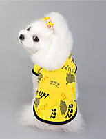 cheap -Dog Cat Vest Animal Basic Adorable Cute Dailywear Casual / Daily Dog Clothes Puppy Clothes Dog Outfits Breathable Yellow Pink Costume for Girl and Boy Dog Padded Fabric S M L XL XXL