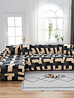 cheap -Grid Puzzle Print Dustproof All-powerful  Stretch L Shape Sofa Cover Super Soft Fabric Sofa Furniture Protector with One Free Boster Case