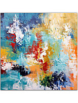 cheap -Oil Painting Hand Painted Square Abstract Modern Rolled Canvas (No Frame)