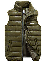 cheap -Men's Fishing Vest Hiking Fleece Vest Sleeveless Vest / Gilet Winter Jacket Top Outdoor Thermal Warm Windproof Fleece Lining Quick Dry Autumn / Fall Winter Spring Black Red Army Green Hunting Fishing