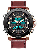 cheap -sports waterproof dual display men's watch multifunctional alloy digital watch
