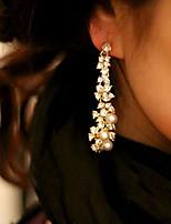 cheap -Women's Hoop Earrings Tassel Fringe Love Earrings Jewelry Gold For Party Wedding 1 Pair