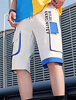 """cheap -Men's Hiking Shorts Hiking Cargo Shorts Patchwork Summer Outdoor 12"""" Tailored Fit Ripstop Multi-Pockets Breathable Comfortable Knee Length Bottoms Bule / Black Black / Yellow Blue+White Work Hunting"""