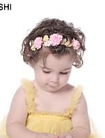 cheap -amazon multicolor stitching simulation fabric rose baby hair accessories children's nylon hairband with elastic hairband custom