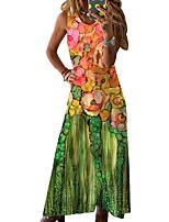 cheap -2021 amazon ebay europe and america spring and summer new sleeveless loose print dress long skirt women
