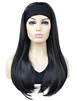 cheap -Long Straight Blonde Synthetic Wig HEADBAND Hair Wigs