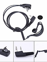 cheap -2 PIN Earpiece Headset PTT MIC 1m Ear Hook Walkie Talkie Earbud Interphone Earphone Earpiece for BAOFENG UV5R/KENWOOD/HYT
