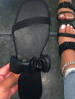 cheap -Women's Sandals Flat Heel Round Toe PU Solid Colored Almond Black Orange