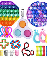 cheap -21 pcs Fidget Toys Anti Stress Set Stretchy Strings toys for Adults Children Gift Pack Squishy Sensory Antistress Relief Figet Toy