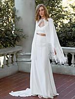 cheap -Sleeveless Elegant / Bridal Mikado Wedding / Party / Evening Women's Wrap With Tassel / Solid
