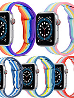 cheap -1 PCS Watch Band for Apple iWatch Printed Bracelet Silicone Wrist Strap for Apple Watch Series SE / 6/5/4/3/2/1