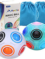 cheap -Rainbow Puzzle Ball Cube Magic Rainbow Ball Puzzle Color Shift Puzzle Ball Fidget Toy Stress Reliever Brain Teaser for Kids and Adults Set of 2