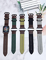 cheap -Smart Watch Band for Apple iWatch 1 pcs Classic Buckle PU Leather Canvas Replacement  Wrist Strap for Apple Watch Series SE / 6/5/4/3/2/1