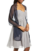 cheap -Sleeveless Elegant Chiffon Wedding Party Women's Wrap With Solid